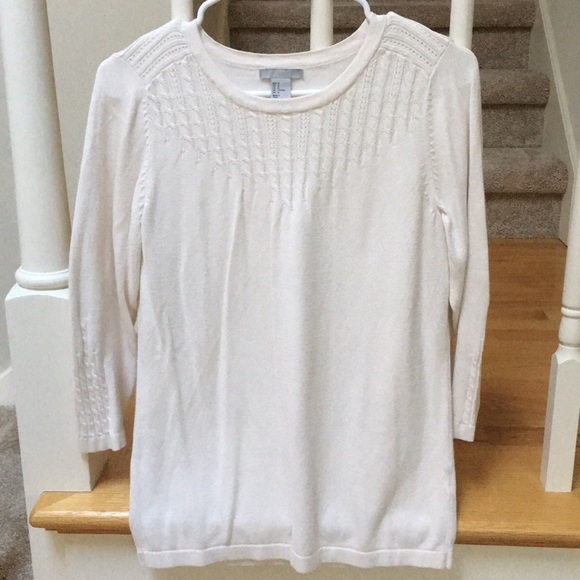 H&M Sweaters - H&M White long sleeve sweater